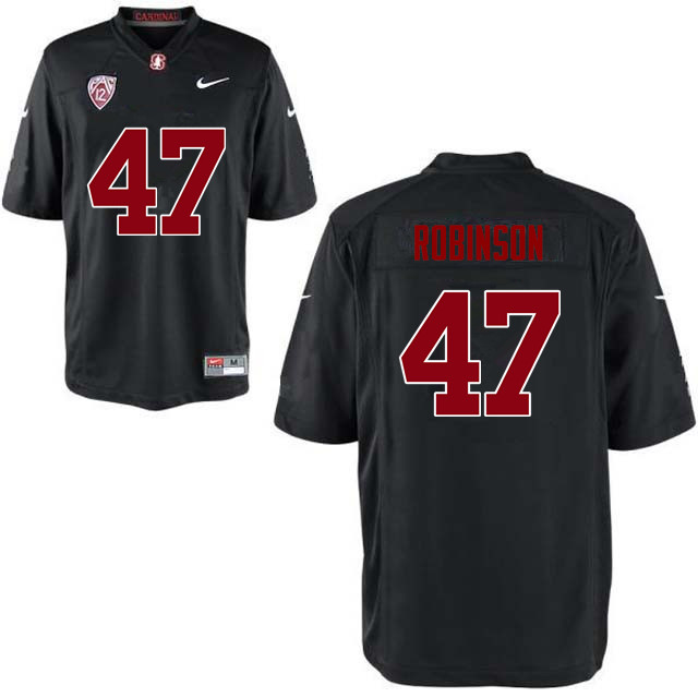 Men Stanford Cardinal #47 Alex Robinson College Football Jerseys Sale-Black