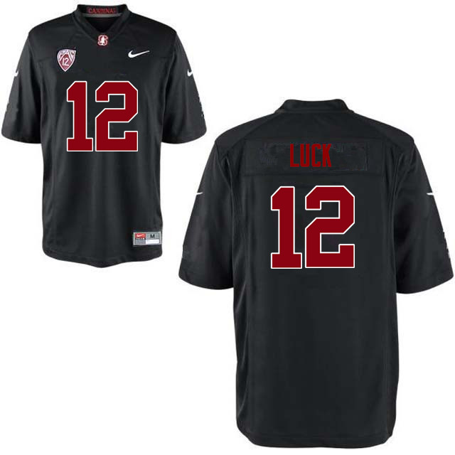 Men Stanford Cardinal #12 Andrew Luck College Football Jerseys Sale-Black