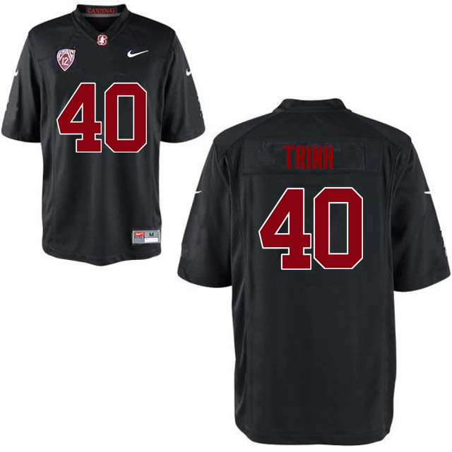 Men Stanford Cardinal #40 Anthony Trinh College Football Jerseys Sale-Black