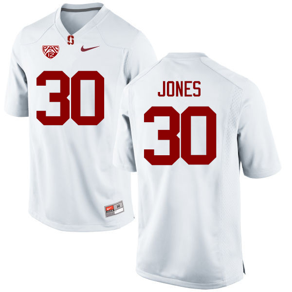 Men Stanford Cardinal #30 Craig Jones College Football Jerseys Sale-White