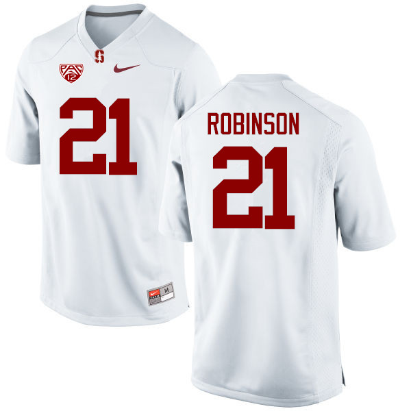 Men Stanford Cardinal #21 Curtis Robinson College Football Jerseys Sale-White