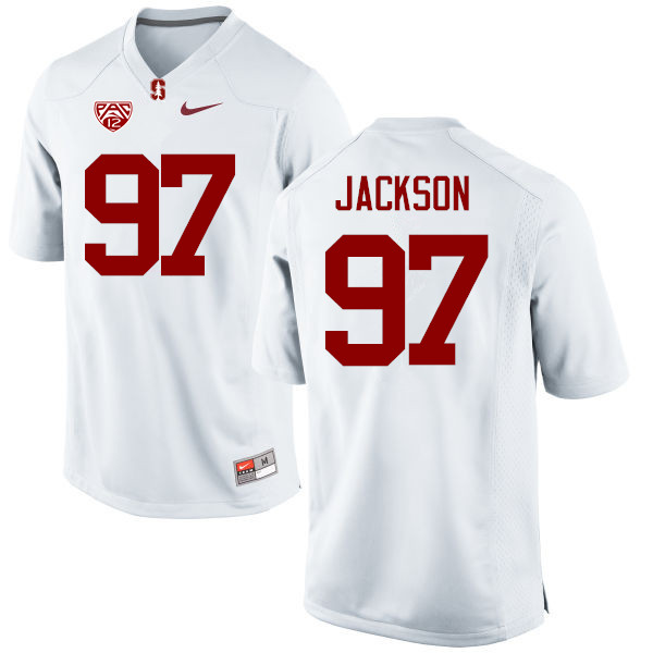 Men Stanford Cardinal #97 Dylan Jackson College Football Jerseys Sale-White