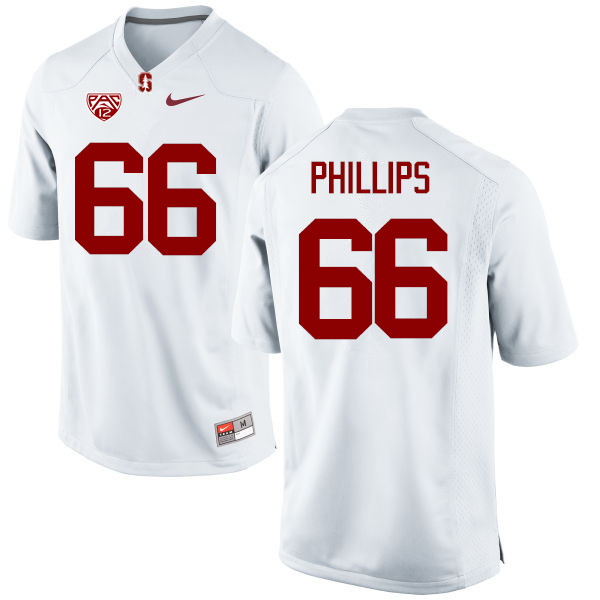Men Stanford Cardinal #66 Harrison Phillips College Football Jerseys Sale-White