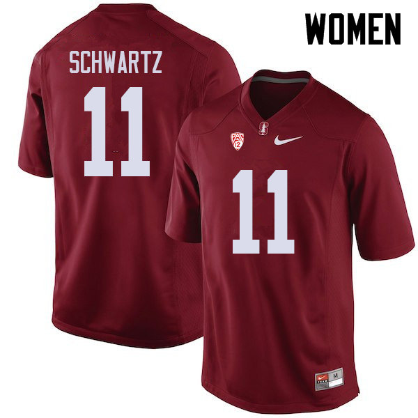 Women #11 Harry Schwartz Stanford Cardinal College Football Jerseys Sale-Cardinal