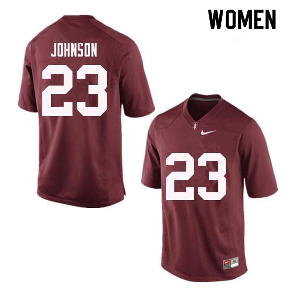 Women Stanford Cardinal #23 Ryan Johnson College Football Jerseys Sale-Red